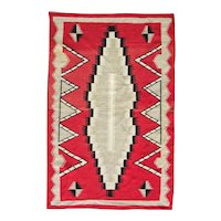 "Antique Navajo Eye-dazzler Rug, 3'9"" x 5'11"", c-1900"