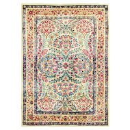 Gorgeous Antique Persian Sampler Laver Kerman Rug, 2'1 x 3', c-1920