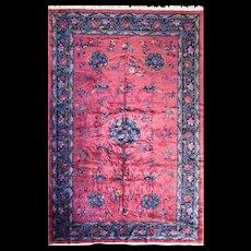 "10' x 15'6"" Manchester Wool Art Deco Carpet, c-1920's"