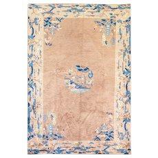 "5'7"" x 8'4"" Incredible Peking Chinese Carpet, Art Deco Design, c-1920"