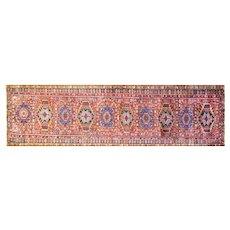 "3'3"" x 14'8"" Antique Persian Karajah Heriz, Serapi Runner, Excellent condition, c-1920."
