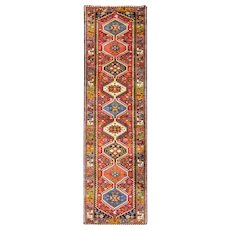 """2'9"""" x 10' Persian Yalamah runner, c-1950 in excellent condition."""