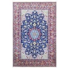 "3'7"" x 5'4"" Very Fine Persian Isfahan Rug, c-1960's."