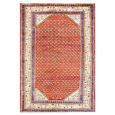 """4'6"""" x 6'5"""" Amazing Antique Persian Mir Seraband Rug, C-1920"""
