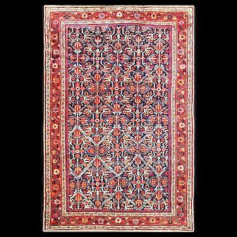 "4'7"" x 7' Unusual Antique Persian Sultanabad Rug, C-1920"