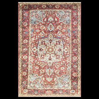 "4'6"" x 6'10"" Remarkable Persian Bakhtiari Rug, c-1920"