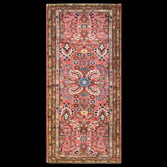"2'9"" x 6'3"" Gorgeous Antique Persian Lilihan rug Rug or runner,c-1920"