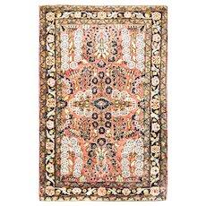 """2'7"""" x 4' Gorgeous Antique Persian Lilihan Rug,c-1920"""