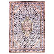 "2'5"" x 3'7"" Amazing Persian Senneh Rug, c-1950"