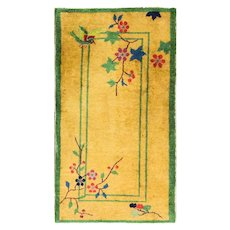 """2'1"""" x 4'1"""" Remarkable Art Deco Chinese Rug, c-1920"""