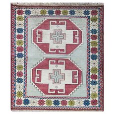 "3'10"" x 4'8"" fabulous Turkish Kazak Rug , #16946"