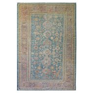 "Antique Oushak Carpet, 8'6"" x 12'9"" c-1880"