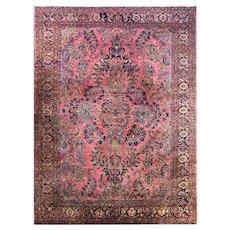 "9' x 12'1"" Persian  Mohajeran Sarouk Carpet, c-1920"