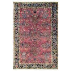 """Persian Sarouk Rug, 4'6"""" x 6'8"""", c-1920"""
