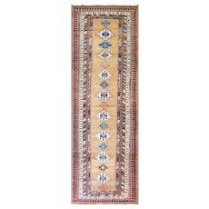 """3'1"""" x 9'8"""" Amazing Antique Persian Serab Runner, C-1900"""