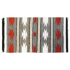 "1'7"" x 2'11"" Southwest weaving Rug, c-1950"