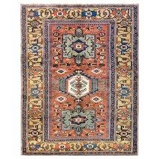 "Antique  Persian Heriz / Karaja / Serapi Rug, 5'2"" x 6'8"", c-1900's"