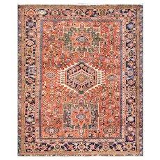 "Antique Persian Karajah/Heriz/Serapi Rug, 4'10"" x 6'1"", c-1900's"