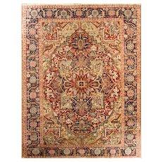 """Antique Persian Heriz, Serapi Oriental Carpet 8'4"""" x 11' c-1920's #17064"""