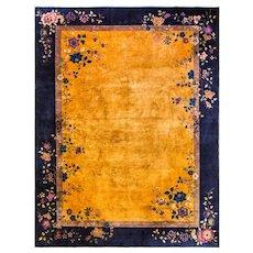 """8'11"""" x 11'9"""" Fabulous Antique Art Deco Carpet, c-1915"""