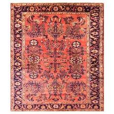 "5'6"" x 6'3"" Antique Persian Liilihan Rug,c-1910"