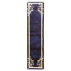 "Antique Art Deco Runner,2'1"" x 8'8"" Chinese Oriental Rug, #17139, c-1920"