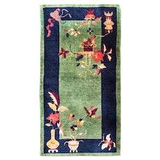 Antique Art Deco Chinese Rug, 3' x 6', c-1920 #17141