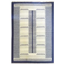 "Swedish Flat-Weave Carpet, 6'9"" x 9'10"" 20th Century"