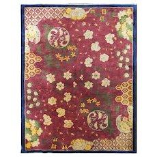 """Antique Art Deco Carpet, Most Classic one, 8'11"""" x 11'7"""" c-1920, #17207"""