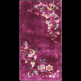 "Antique Art Deco Chinese Oriental Rug, 3' x 5'8"" #17218"