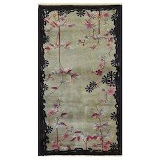 "Antique Art deco Chinese Rug ,The Most Elegant 3' x 5'9"" #17238"