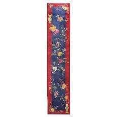 "Antique Art Deco Runner, Most elegant 2'4"" x 11'9"" Chinese Oriental Rug, #17242"