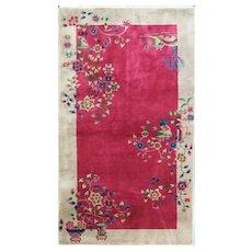 """Antique Art Deco Rug, elegant 3'10"""" x 6'9"""" Chinese Oriental Rug, #17243"""