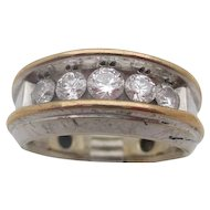 14kt .95 Diamond gentlemans ring