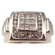 14kt  Vintage gentlemans diamond ring