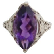 14kt Ladies Art Deco Amethyst