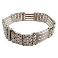 14kt Gentlemans vintage white-gold bracelet