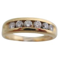 Gentlemans 14kt vintage diamond wedding band