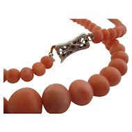Ladies 14kt Victorian coral necklace