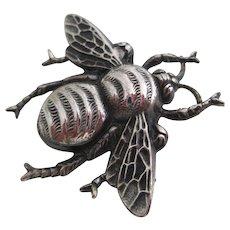 Ladies antique sterling bee pin.