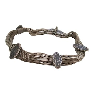Ladies vintage sterling Niello bracelet.