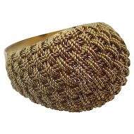18kt Italian mesh ring