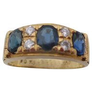18kt Sapphire and diamond ladies ring
