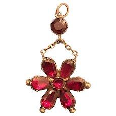 Georgian 15 Karat Gold Garnet Pendant