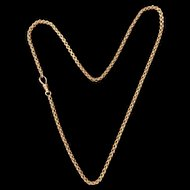 Victorian 9k gold Fancy link guard chain necklace