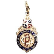 9k gold Independent Order of Oddfellows medal