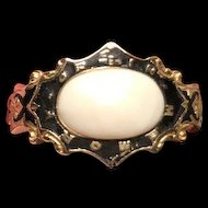 Victorian 18K gold Mourning Ring