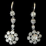Late Georgian early Victorian Diamond drop Earrings