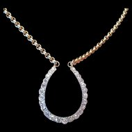 Antique Diamond Horse Shoe Necklace