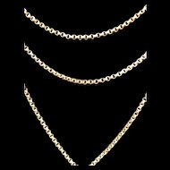 Long Victorian 9 Karat gold necklace